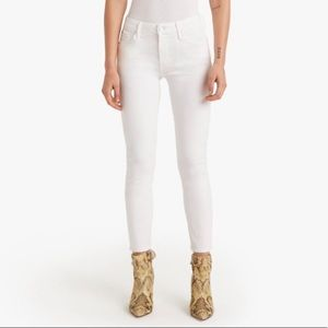 Mother The Looker Crop Jean / White
